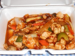 Hop Sing's Kung Pao chicken: loaded with vegetables, tender chicken and plenty of sauce.
