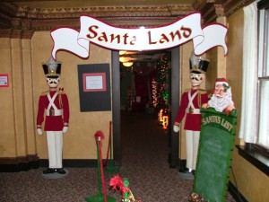 The entrance to see Santa and Mrs. Claus at the Festival of Trees