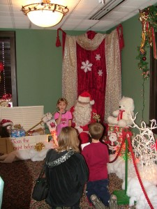 Santa, snow and kids - this is one of the highlights of the season.