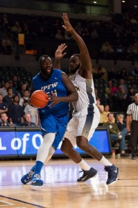 Senior Steve Forbes (54) is a returning starter on the IPFW men's basketball team. (Photo by Clyde Click).