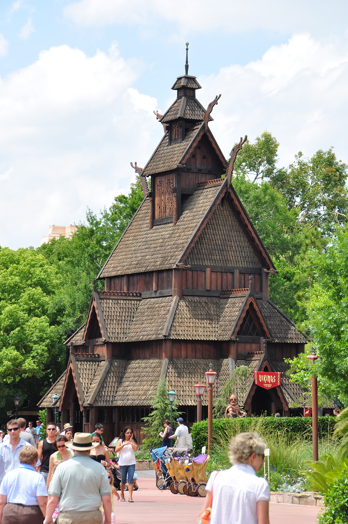 Gol stave church replica, Epcot