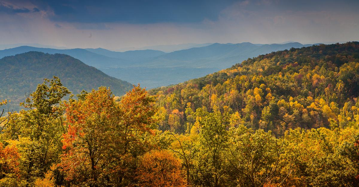 Blue Ridge Mountains West Virginia Map.Fall Color In The Blue Ridge Mountains