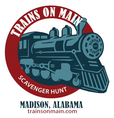 Trains on Main Scavenger Hunt logo