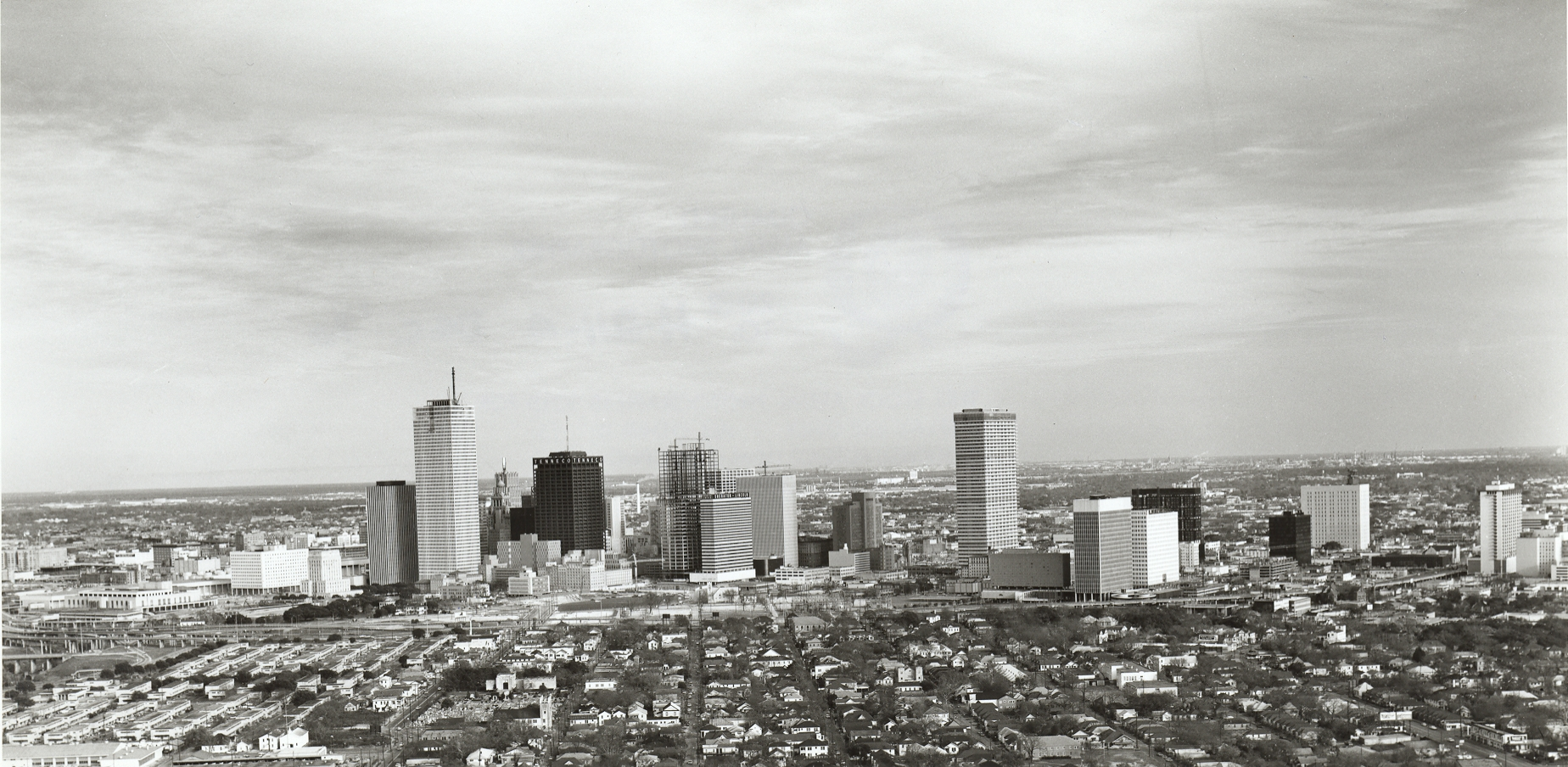 Downtown Houston in the 1970's