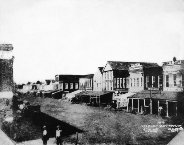 Houston Main Street in 1856
