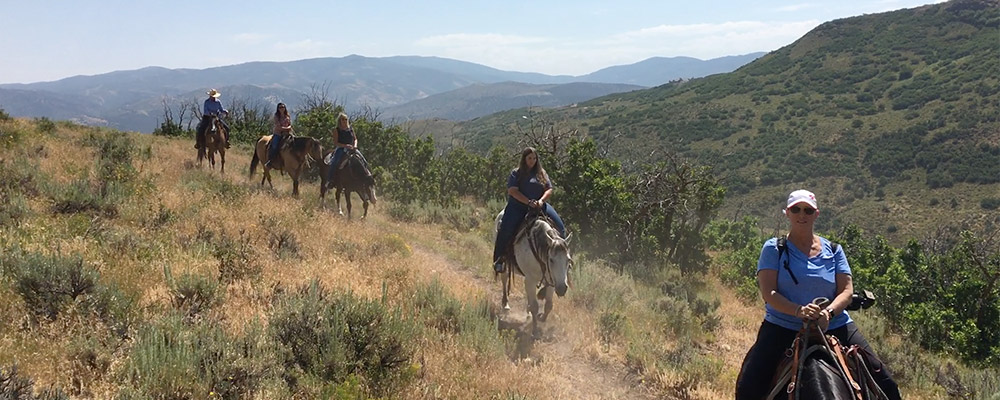 Horseback Riding at Blue Sky Ranch near Park City