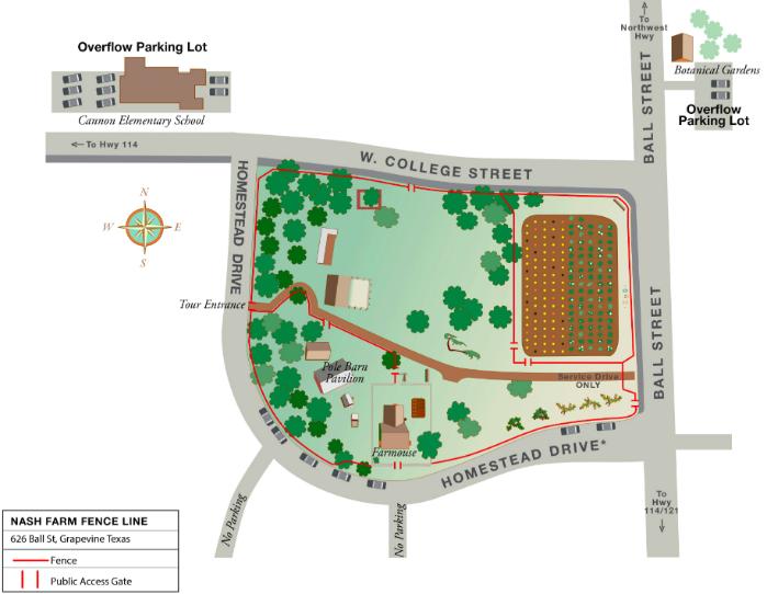 Parking Map Nash Farm