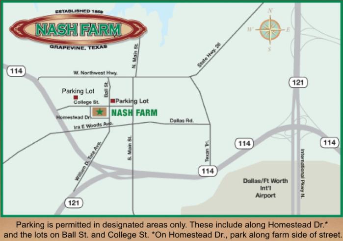 Directions Map Nash Farm