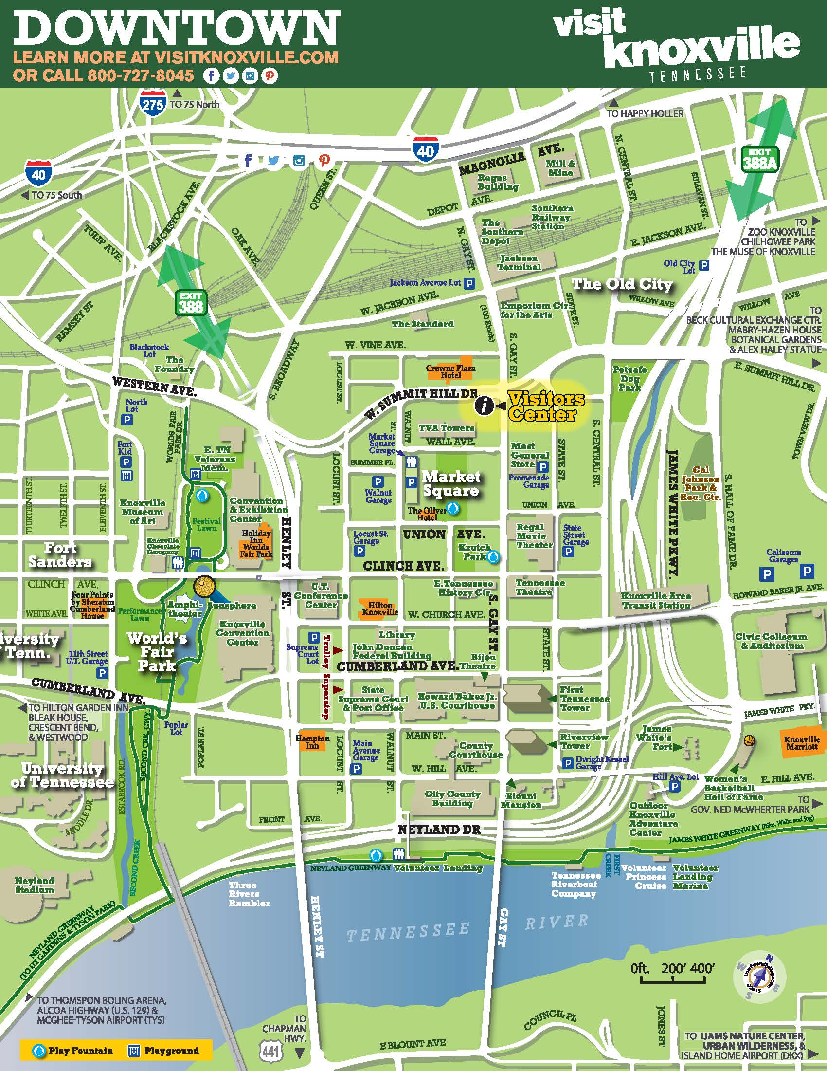 Map Of Downtown Maps | Visit Knoxville Map Of Downtown