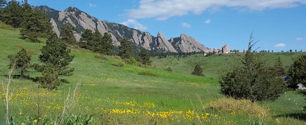 South Boulder Flatirons View