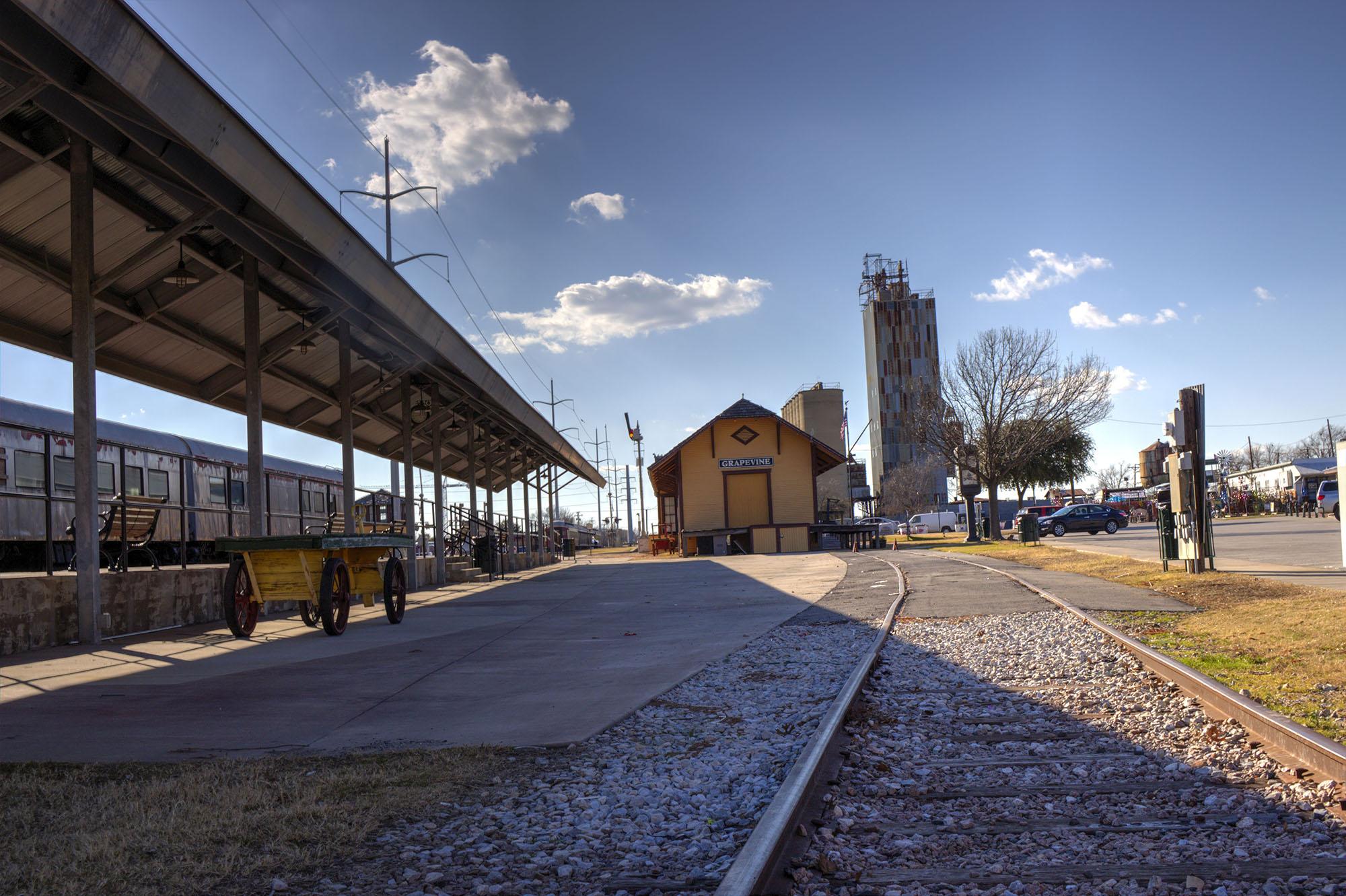 Blue Skies Above the Grapevine Vintage Railroad