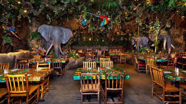 Experience the Rainforest Cafe in Grapevine