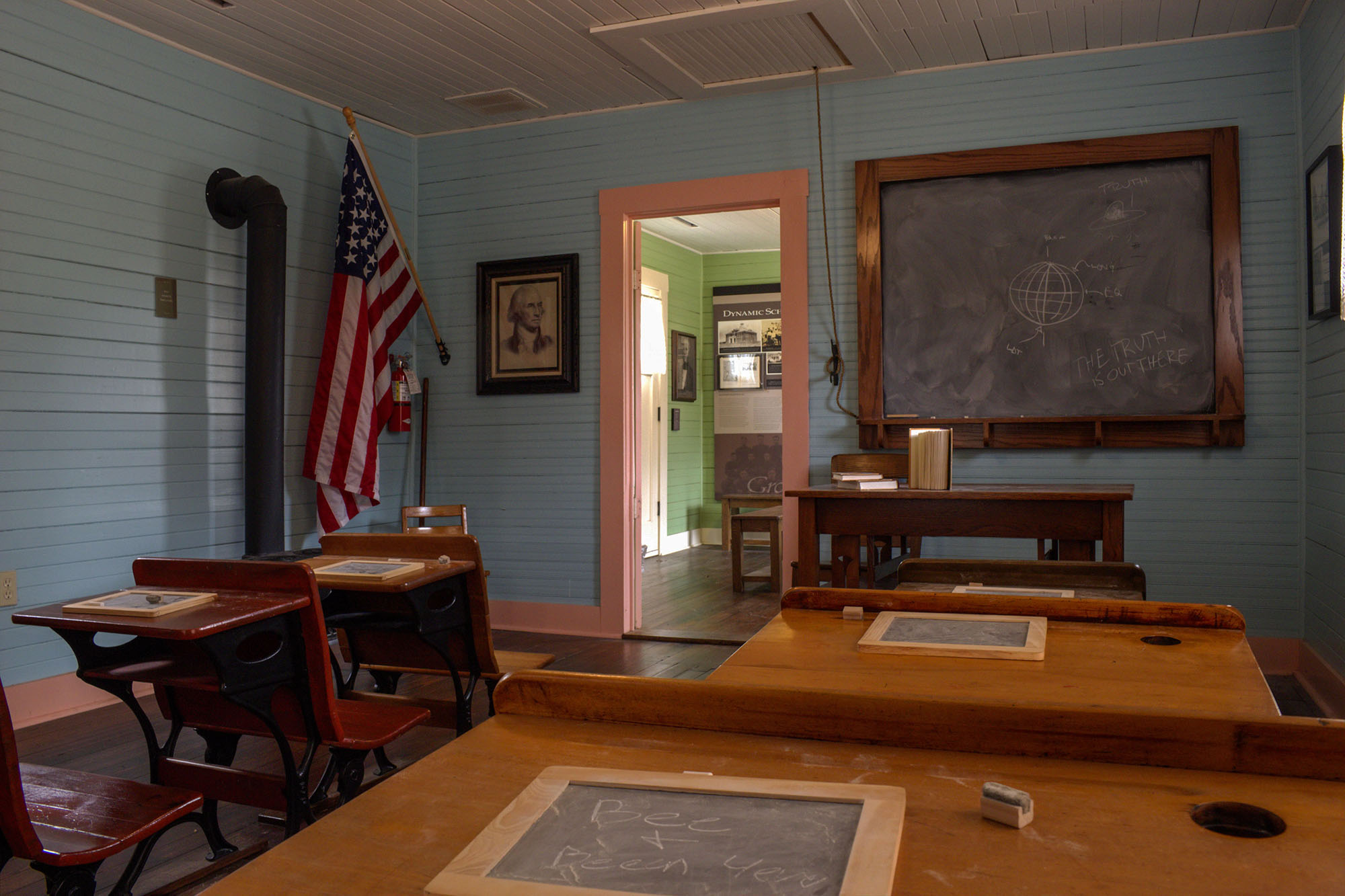 Grab A Seat in the Historic Grapevine Schoolhouse