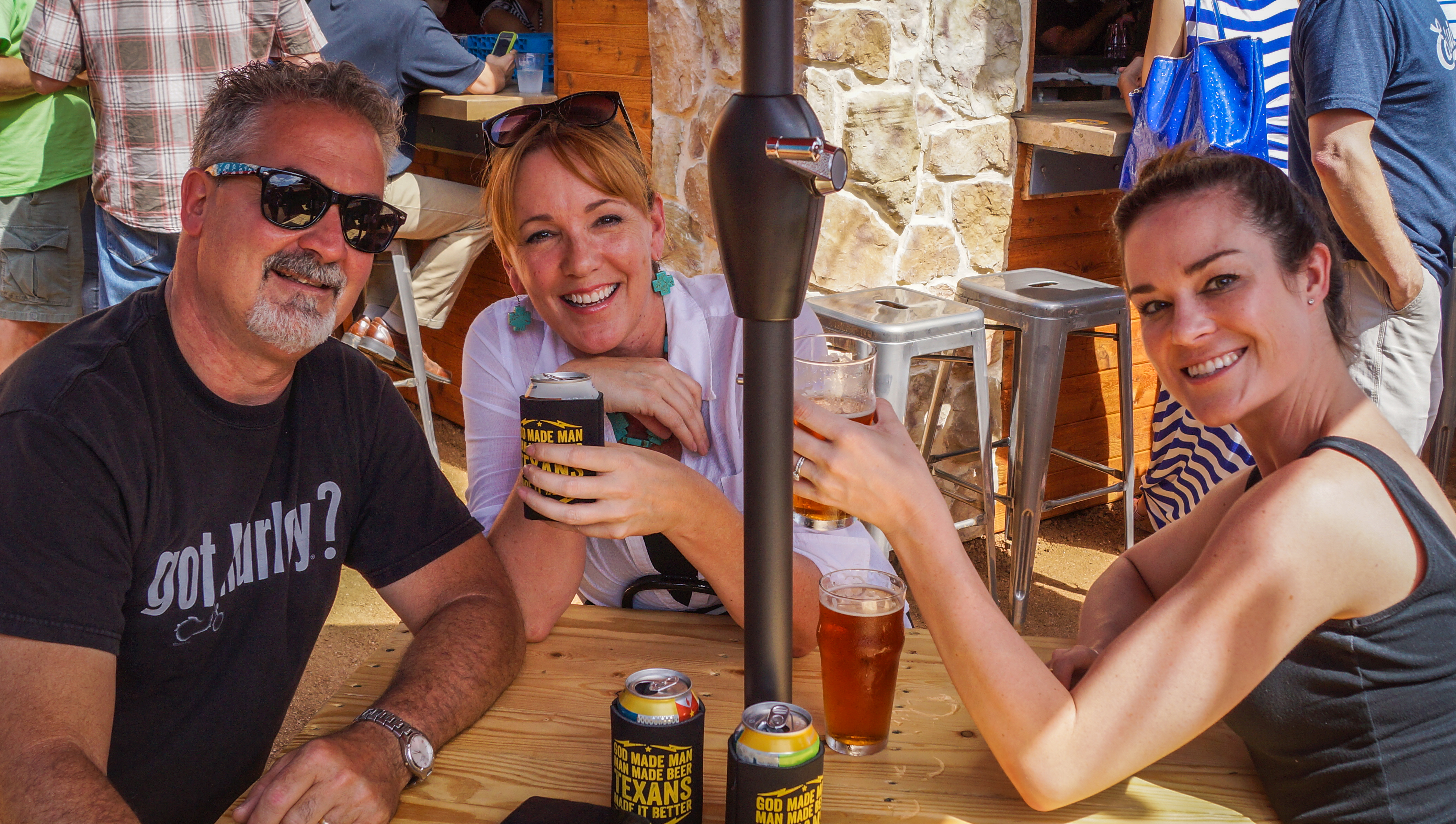 folks enjoy brews at grapevine craft brewery's grand opening