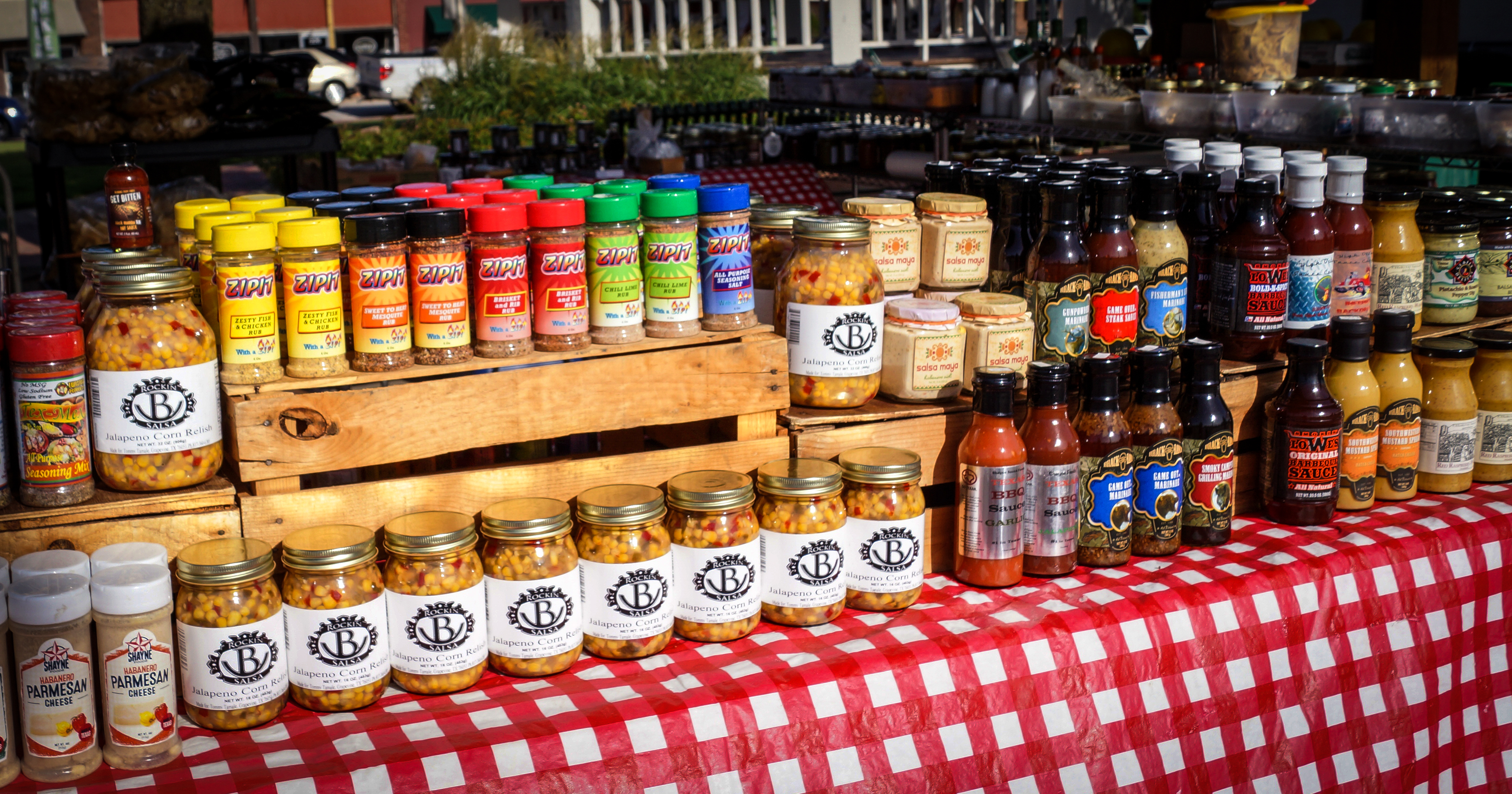 Visitors can find canned products, sauces, seasonings and more.
