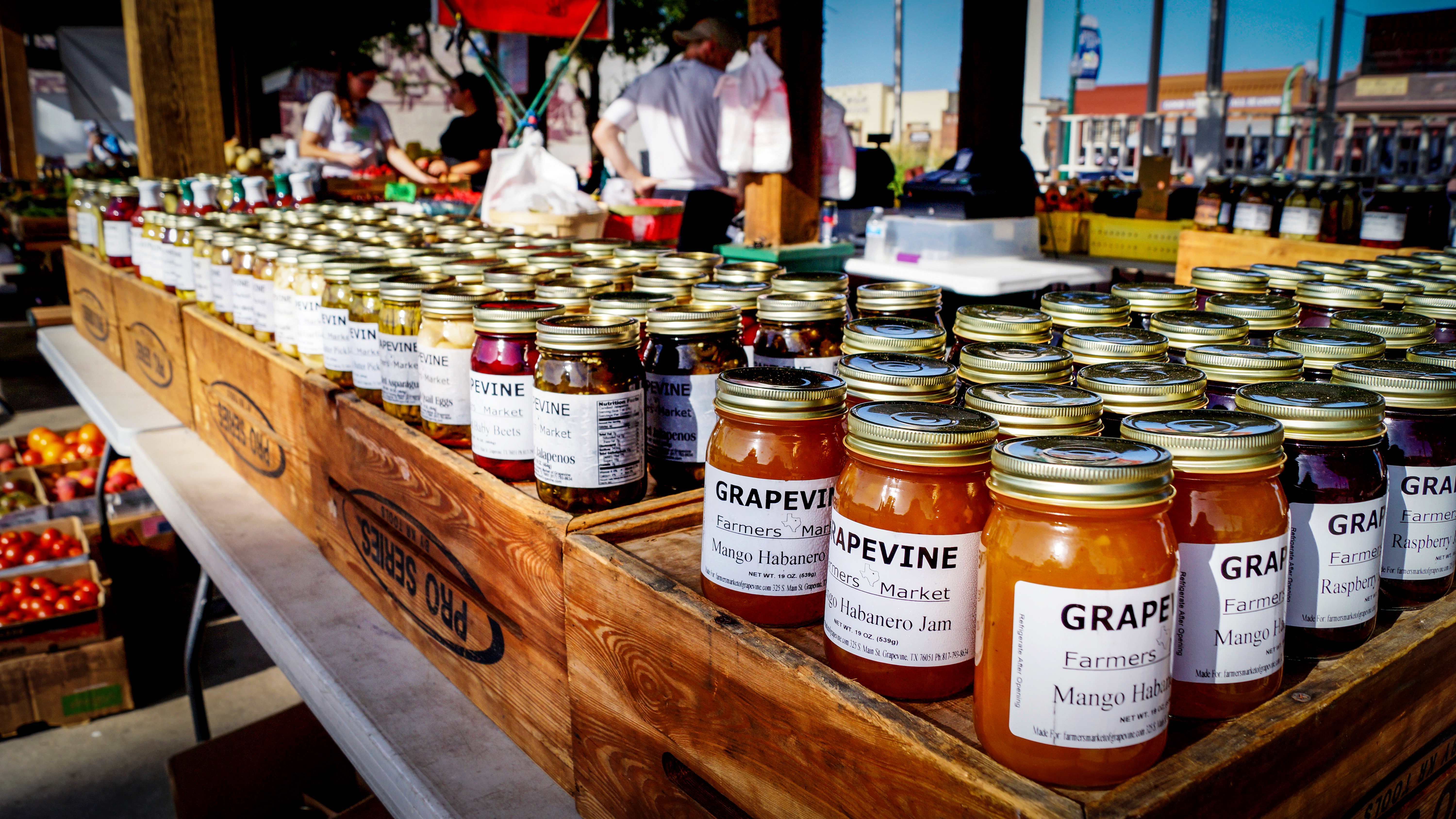 Pick up a fresh jar of jam from the farmers market