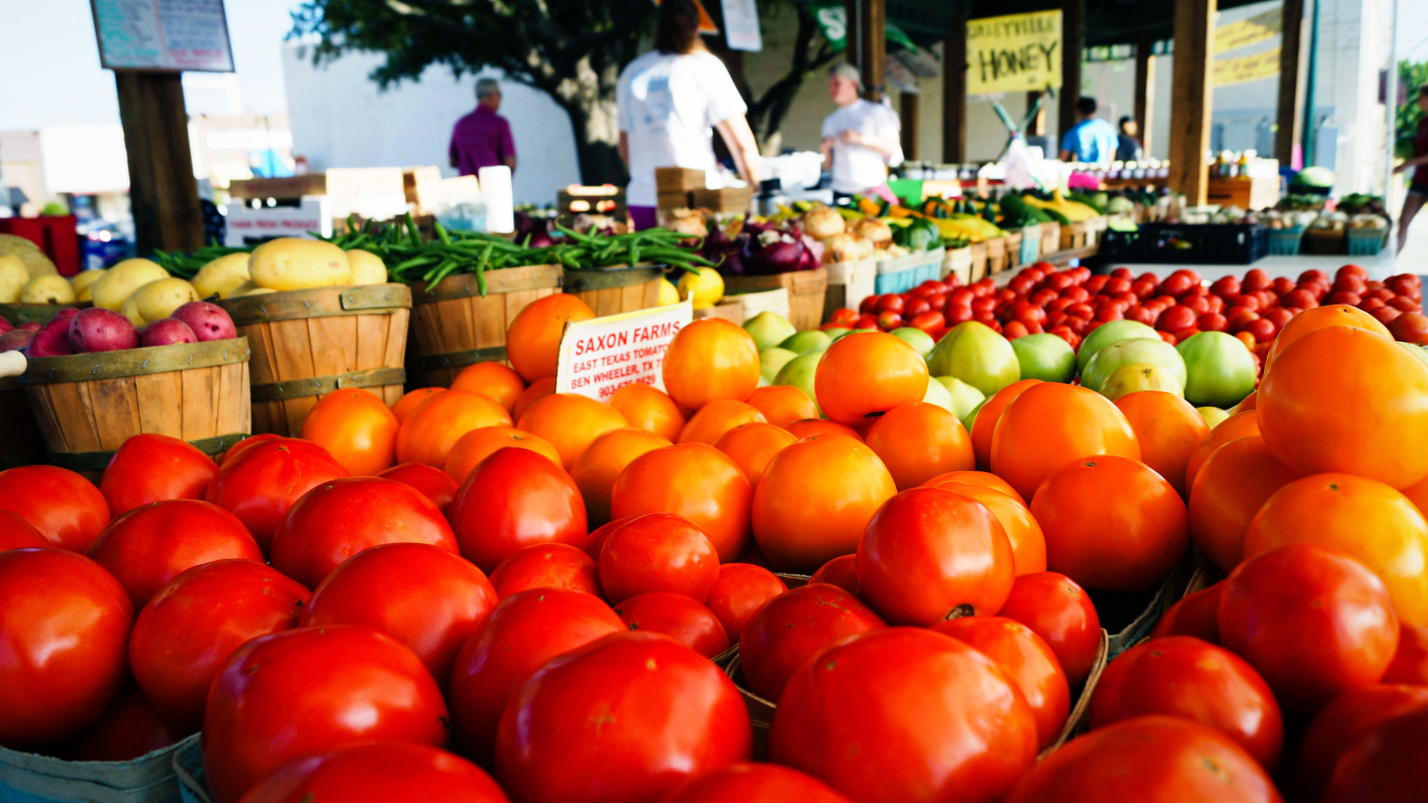 Fresh fruits and veggies await visitors to the Farmers Market