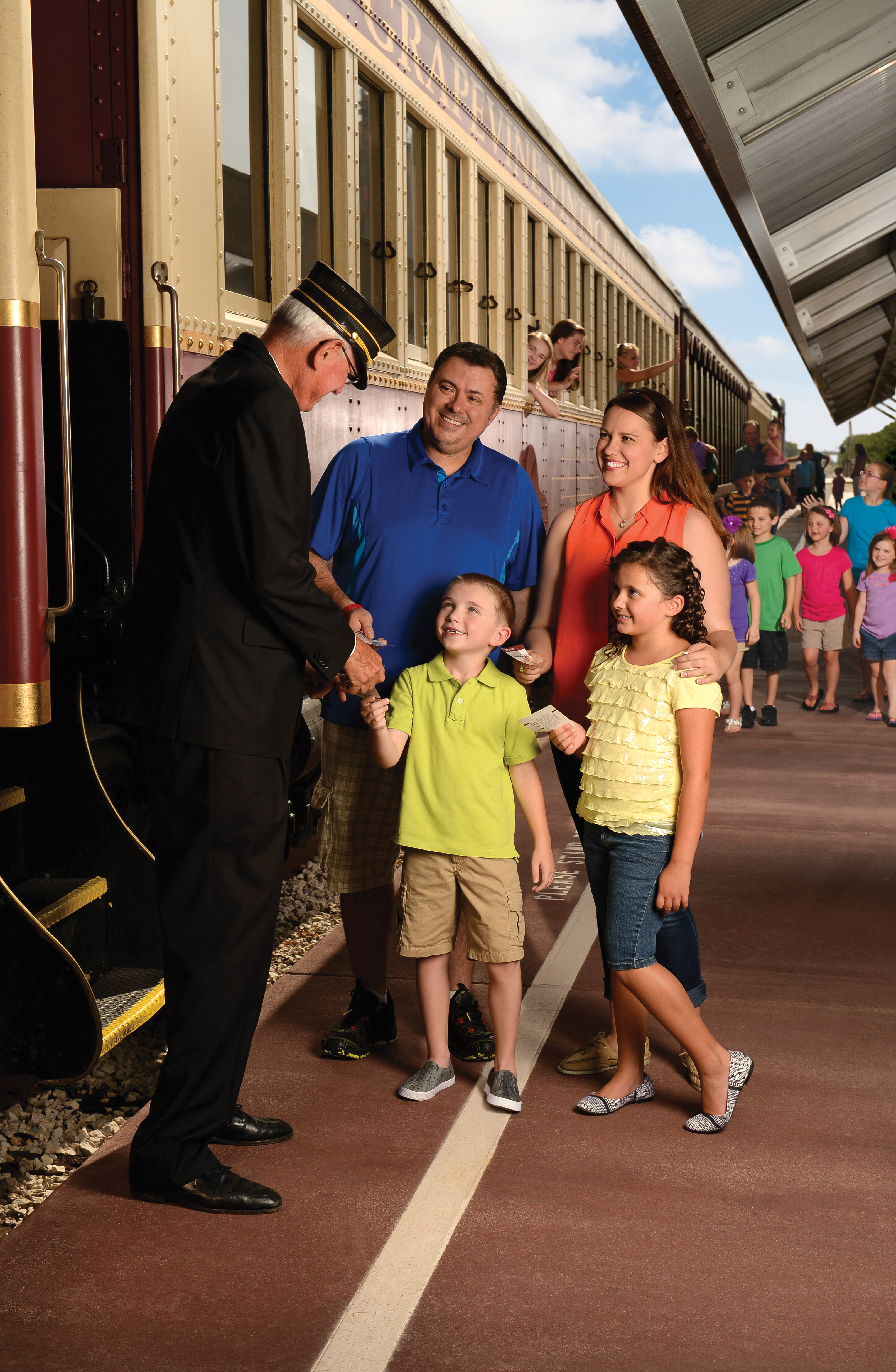 Family at Grapevine Vintage Railroad
