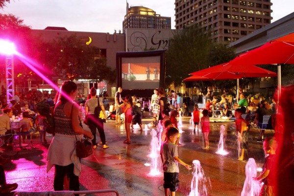 city lights movie nights via cityscape web
