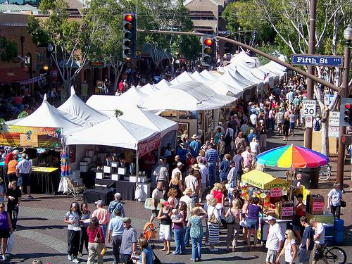 Tempe Arts Festival on Mill Avenue