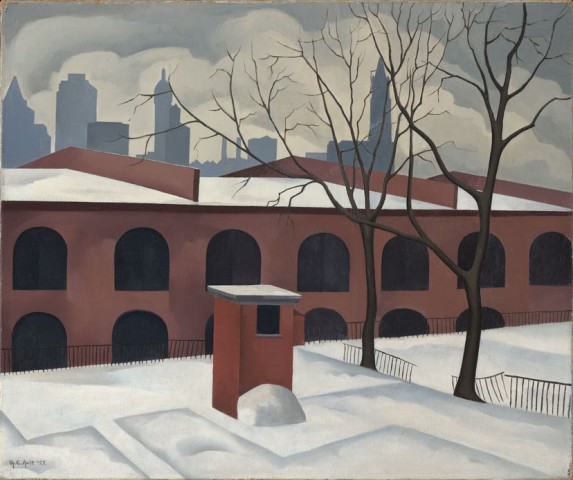 Artist: George Copeland Ault (1891-1948), Title: View from Brooklyn, Dated: 1927, Medium: Oil on canvas, Collection of Jan T. and Marcia Vilcek, Promised Gift to the Vilcek Foundation