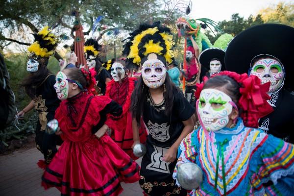 Phoenix, AZ, November 2nd, 2014. Day of the Dead celebration at Desert Botanical Gardens. Photo Credit: Leavitt Wells / Leave it to Leavitt Photography