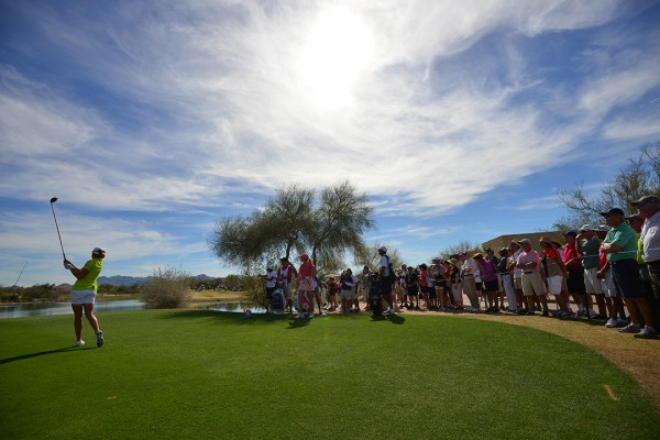 LPGA Founders cup with crowd