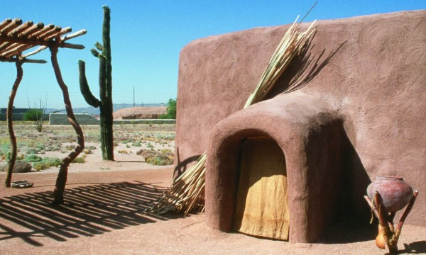 A Hohokam pithouse at the Pueblo Grande Museum