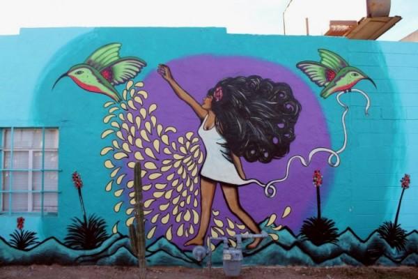 Phoenix mural by Amanda Adkins