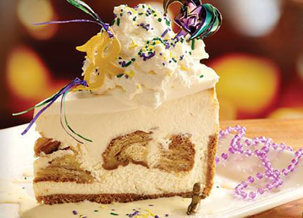 Pappadeaux King Cake cheesecake