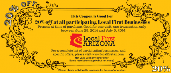 Independents Week Golden Coupon
