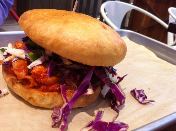 Phoenix Public Market Cafe, BBQ pulled pork sandwich