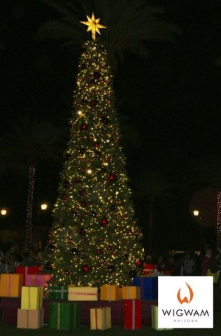 The Wigwam tree lighting ceremony