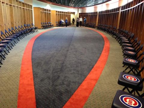 Cubs park locker room