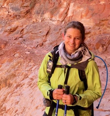 Megan Anderson, while guiding a trip through the Grand Canyon