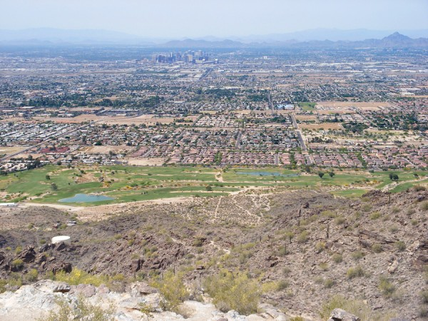 The view from Dobbins Lookout at South Mountain Park