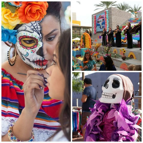 Dia de Los Muertos at the Mesa Center. Photo via Facebook