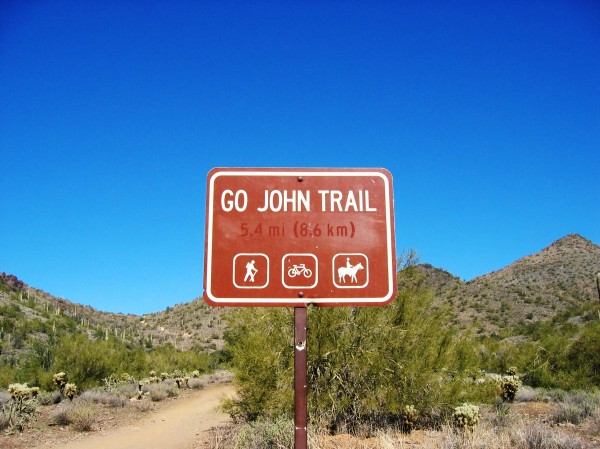 Go John Trail Cave Creek