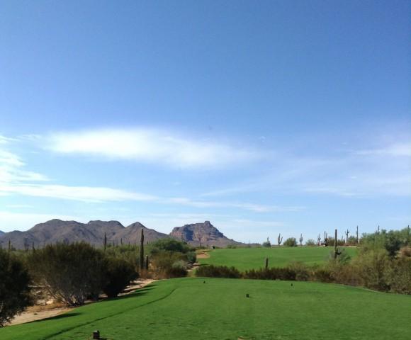 Take aim at Red Mountain on the horizon at We-Ko-Pa Saguaro's 6th hole