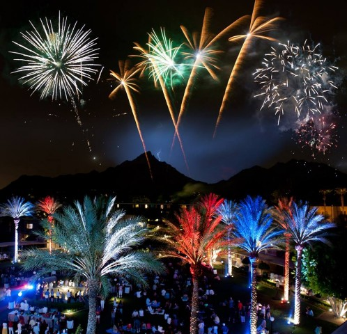 Fourth of July lights up the night at the Arizona Biltmore