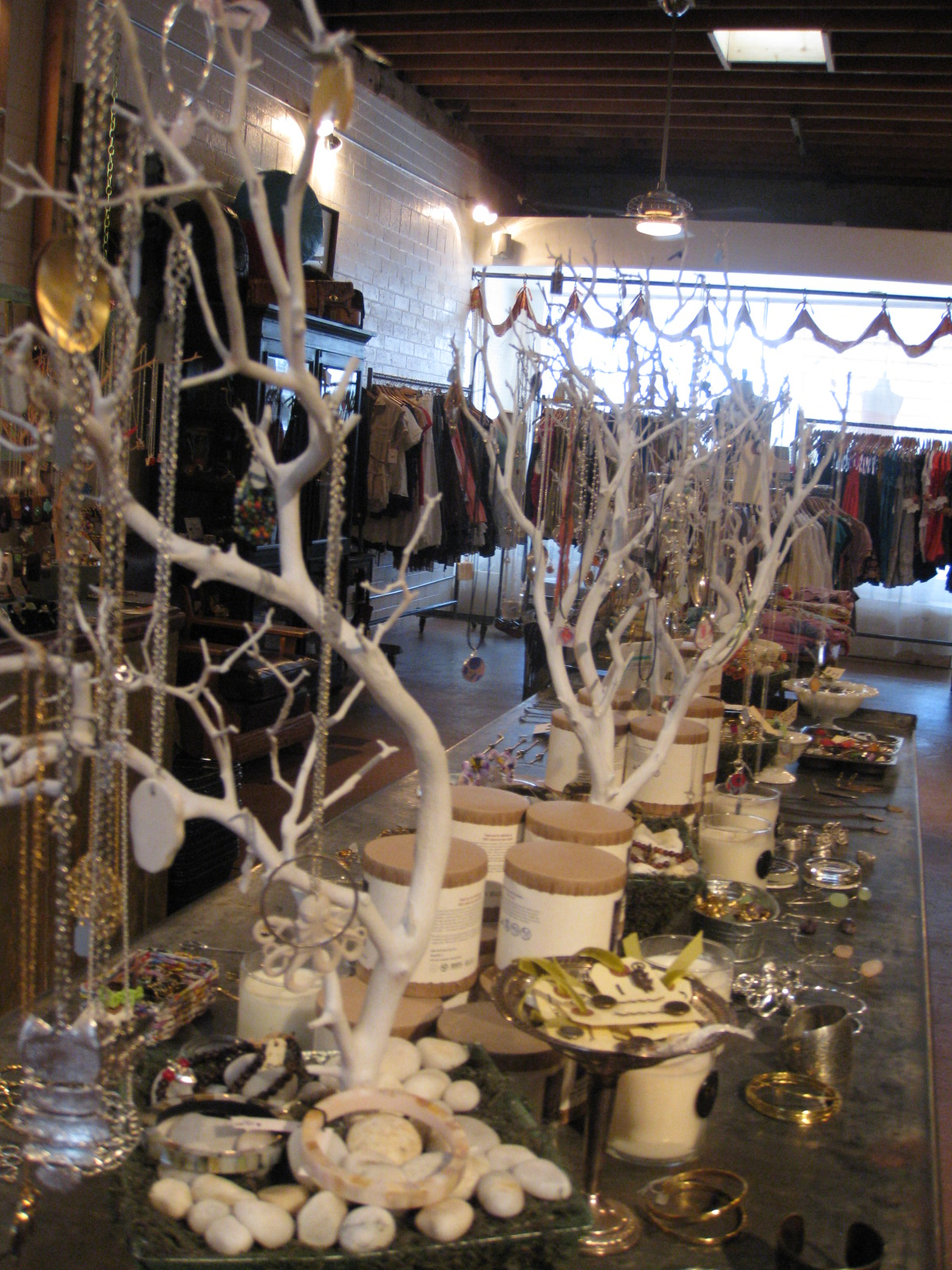 """Trees"" of jewelry at frances"