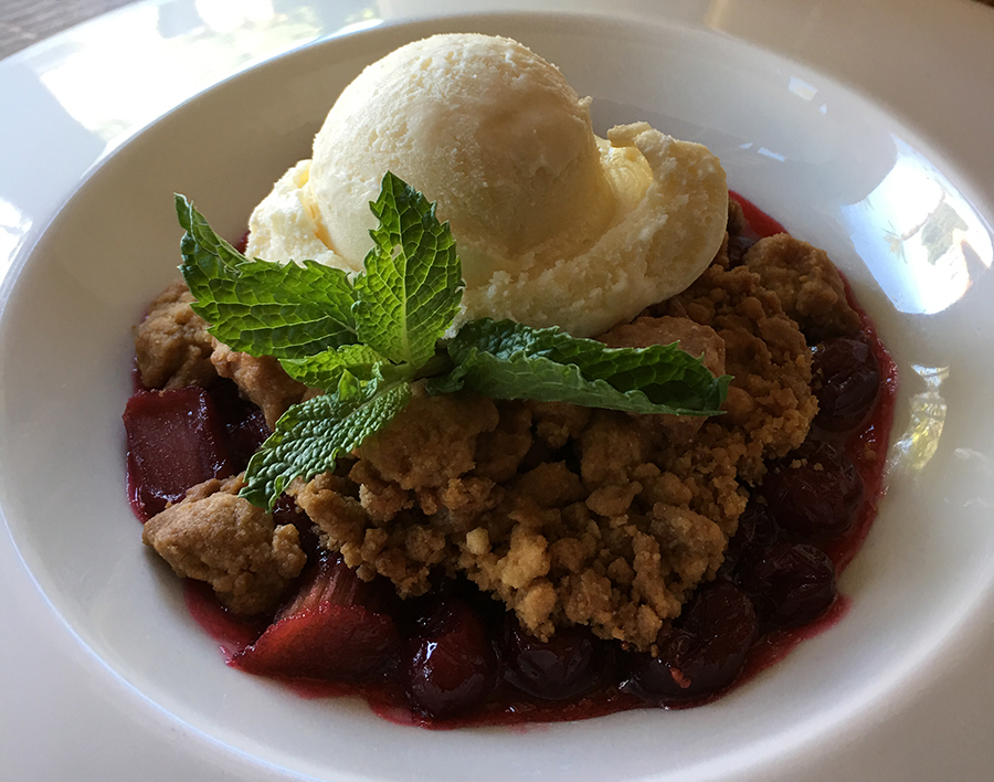 Rhubarb Crisp by the Wigwam