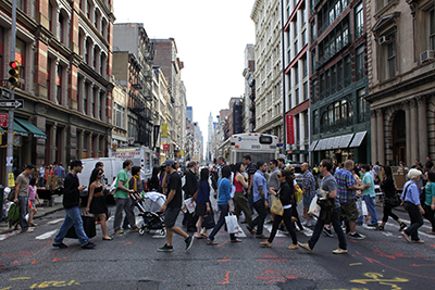 Soho Crowd Photo by Joe Buglewicz
