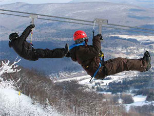 Zip Line at Hunter Mountain