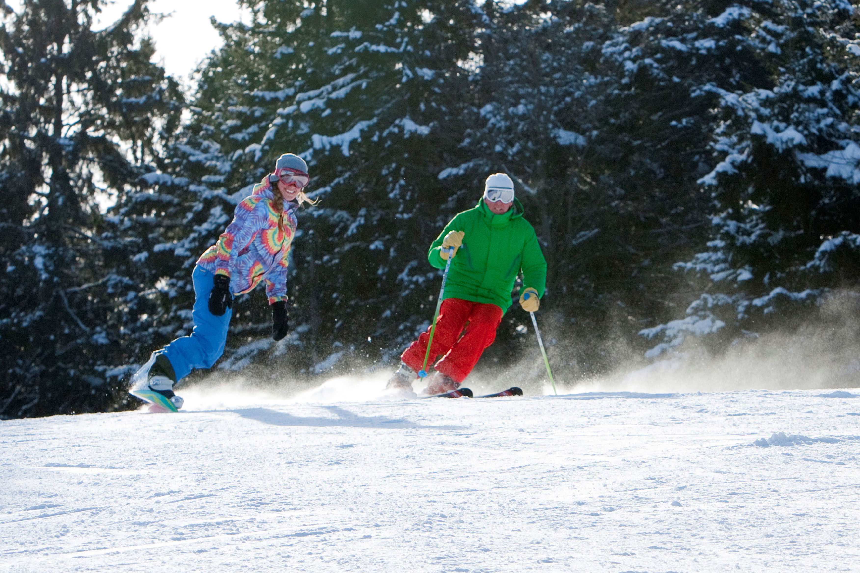 Skiing at Greek Peak