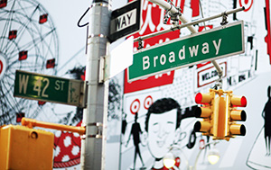 Broadway Stree Sign - Photo by Joe Buglewicz