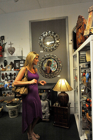 A woman shopping at Holiday Valley boutique