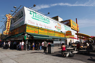 Nathans Famous Photo by Jen Davis
