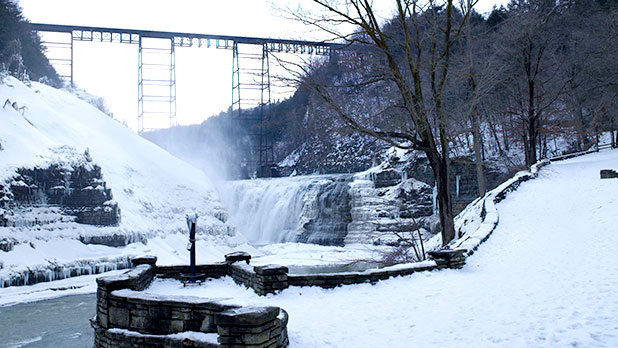 Winter In Letchworth State Park