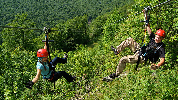 Hunter Zipline at Hunter Mountain